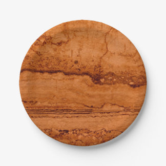 Copper granite paper plate