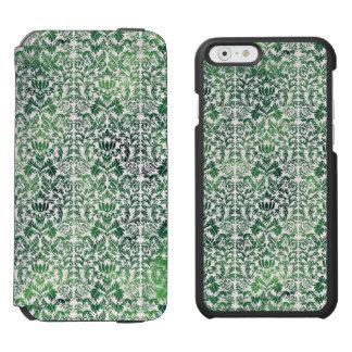 Copper Green Sea Weed Distressed Damask Patina Incipio Watson™ iPhone 6 Wallet Case