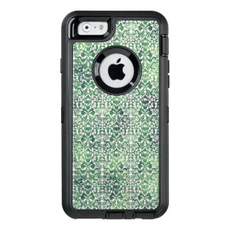 Copper Green Sea Weed Distressed Damask Patina OtterBox Defender iPhone Case