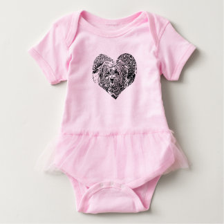 Copper heart clothing baby bodysuit