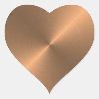 Copper Heart Sticker