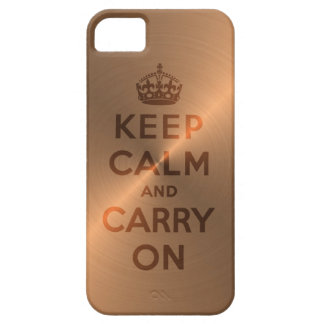 Copper Keep Calm And Carry On Barely There iPhone 5 Case