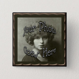 Copper Metallic Frame Template 15 Cm Square Badge
