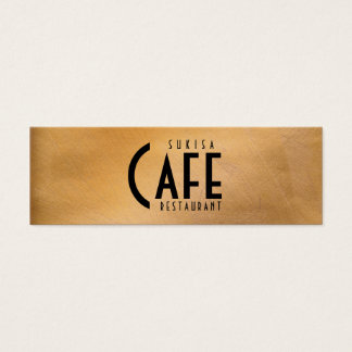Copper Metallic Restaurant Skinny Business Card