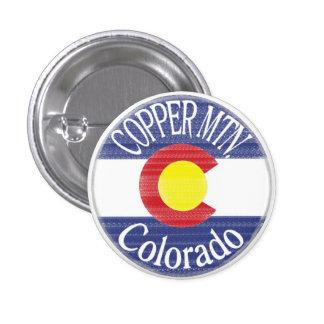 Copper Mountain Colorado circle flag button