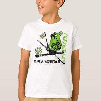 Copper Mountain Colorado green skier boys tee