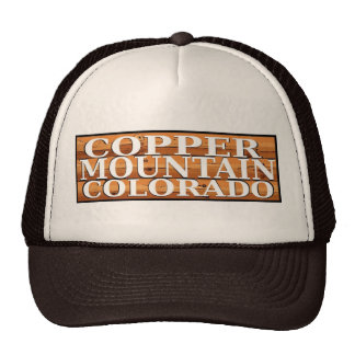 Copper Mountain Colorado rustic log sign hat