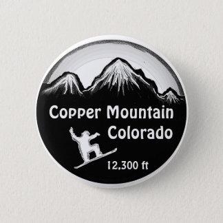 Copper Mountain Colorado snowboard art button