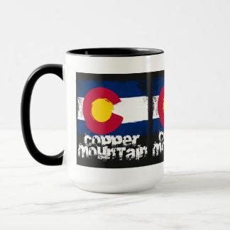 Copper Mountain Grunge Flag Mug