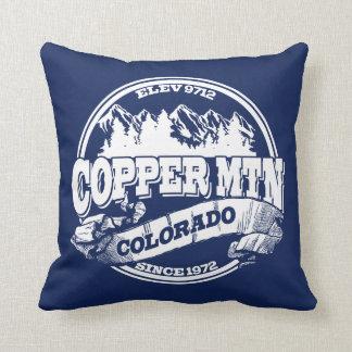 Copper Mountain Old Circle Blue Cushion
