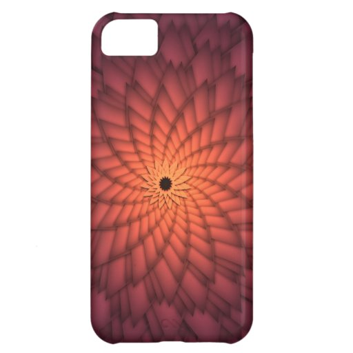 Copper Orange Abstract Flower Cover For iPhone 5C