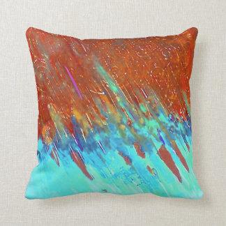 Copper Patina Landscape Cushion