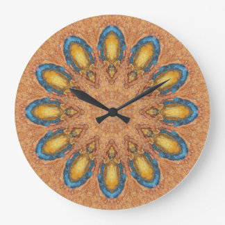 Copper Patina Mandala 0060-1 Large Clock