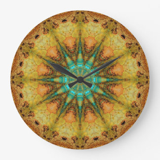 Copper Patina Mandala 01569-4 Large Clock