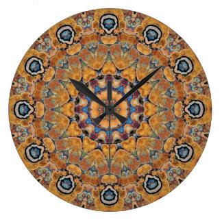 Copper Patina Mandala 0158-4 Large Clock