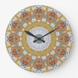 Copper Patina Mandala 04718-1 Large Clock