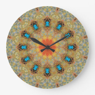 Copper Patina Mandala 06106-3 Large Clock