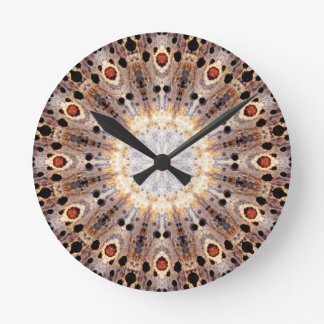 Copper Patina Mandala 06989-1 Round Clock