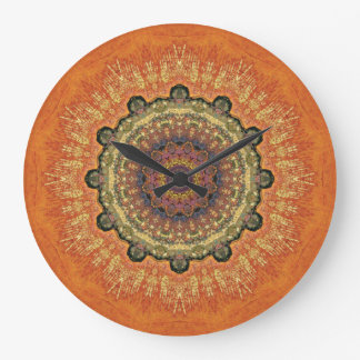 Copper Patina Mandala 09518-2 Large Clock