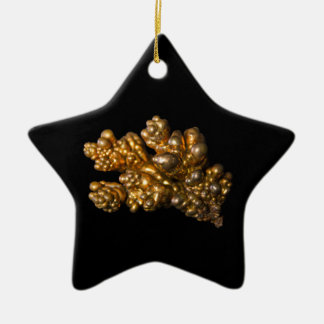 Copper Photo on Black Star Shaped Ornament