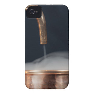 copper pipe of a distillery with steam. iPhone 4 Case-Mate cases