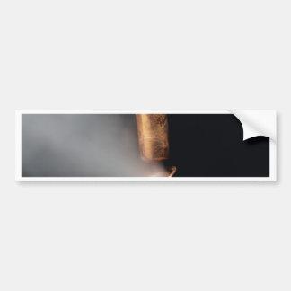 Copper pipe with steam bumper sticker