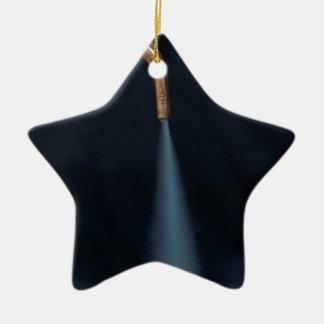 Copper pipe with steam ceramic star decoration