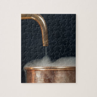 Copper pipe with steam jigsaw puzzle