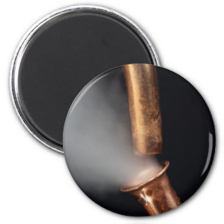Copper pipe with steam magnet