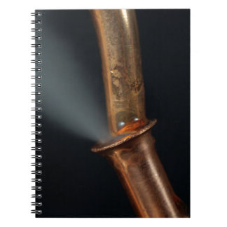 Copper pipe with steam notebook