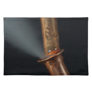 Copper pipe with steam placemat