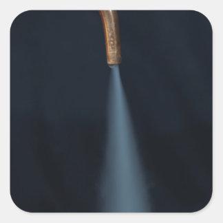 Copper pipe with steam square sticker