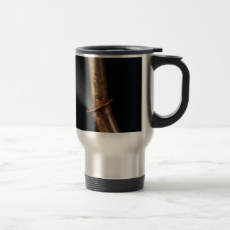 Copper pipe with steam travel mug