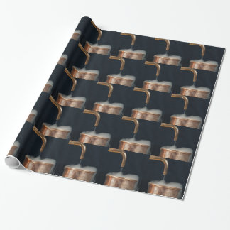Copper pipe with steam wrapping paper