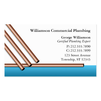 Copper Pipes Plumbing Business Cards