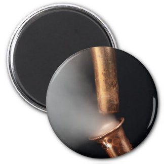Copper pipes with steam magnet
