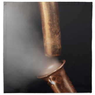 Copper pipes with steam napkin