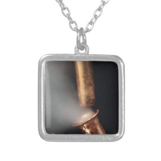 Copper pipes with steam silver plated necklace