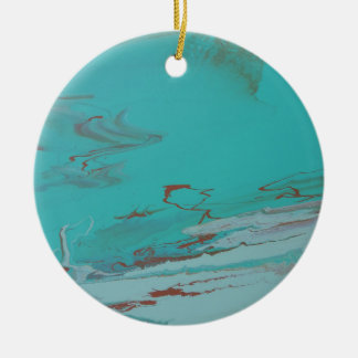 Copper Pond Ceramic Ornament