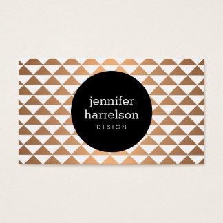 Copper Prism Modern Business Card