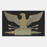 Copper Roman Eagle Rectangle Sticker