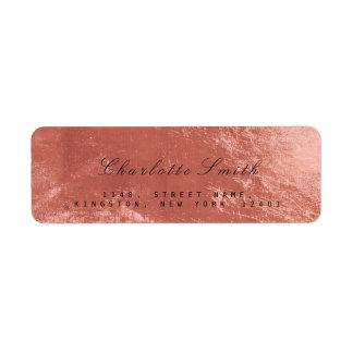 Copper Rose Gold Glass Metal Return Address Labels