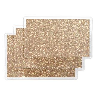Copper Rose Gold Metallic Glitter Acrylic Tray