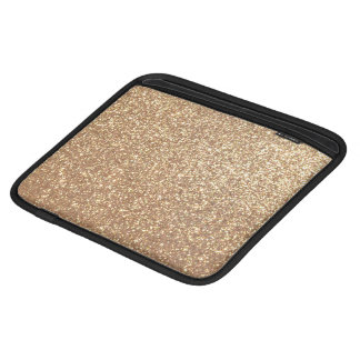 Copper Rose Gold Metallic Glitter iPad Sleeve