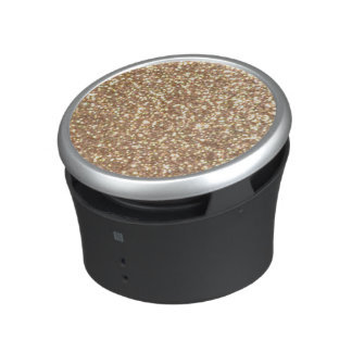 Copper Rose Gold Metallic Glitter Speaker