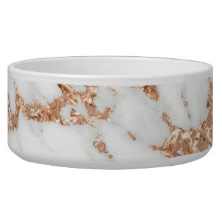 Copper Rose Gold White Gray Metallic Marble Stone