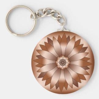 Copper Rosette Key Ring