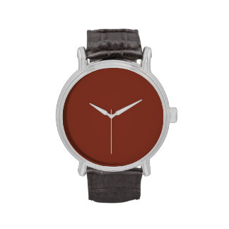 Copper Rust Brown Red Color Trend Blank Template Wrist Watch