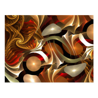 Copper Sci-Fi Abstract Art Postcard