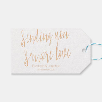 "Copper ""Sending you s'more love"" Wedding Favor Tag"